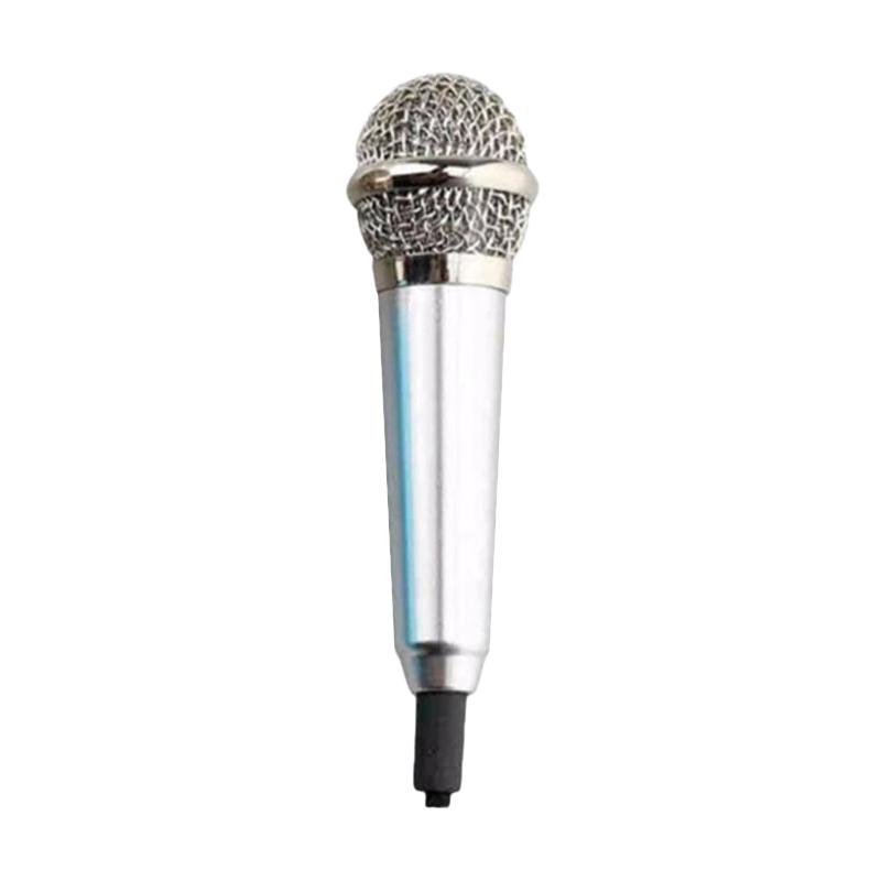 Universal Mini Microphone for Android /iOS /PC - Silver