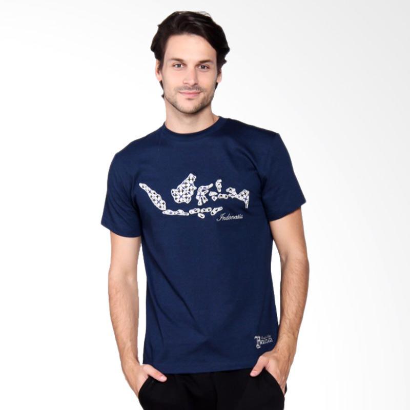 Batik Heritage Indonesia T-Shirt Pria - Navy