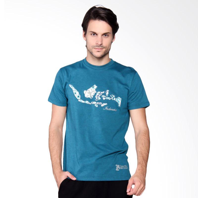 Batik Heritage Indonesia T-Shirt Pria - Tosca