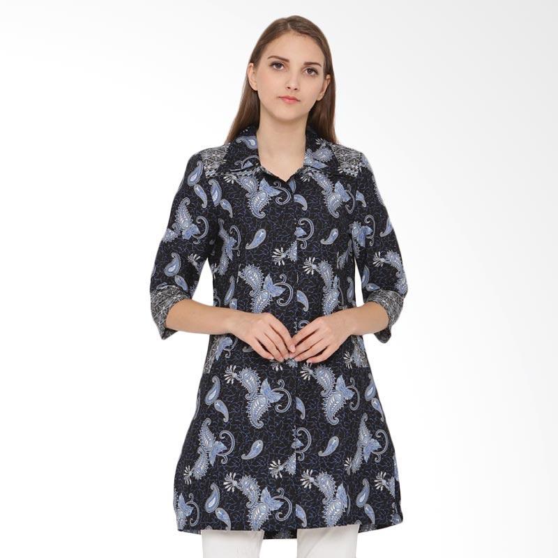 A&D Fashion Batik Ms 812 Tunik Wanita - Blue
