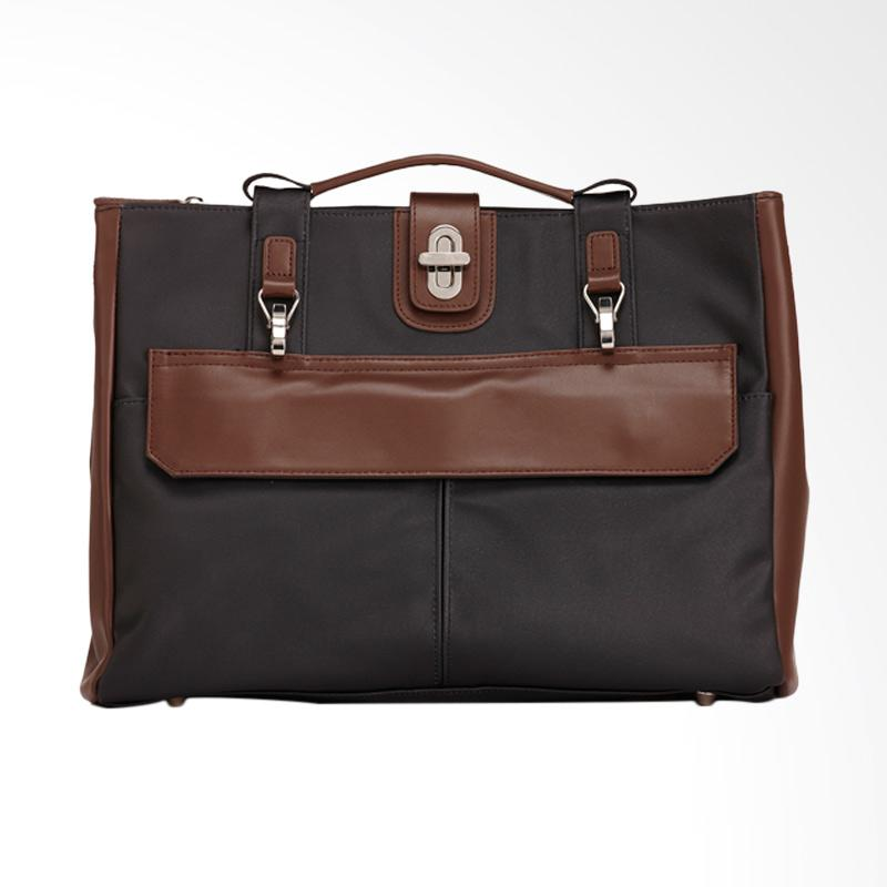 Amore Daniel Stark 3 way Business Hand Bag - Black