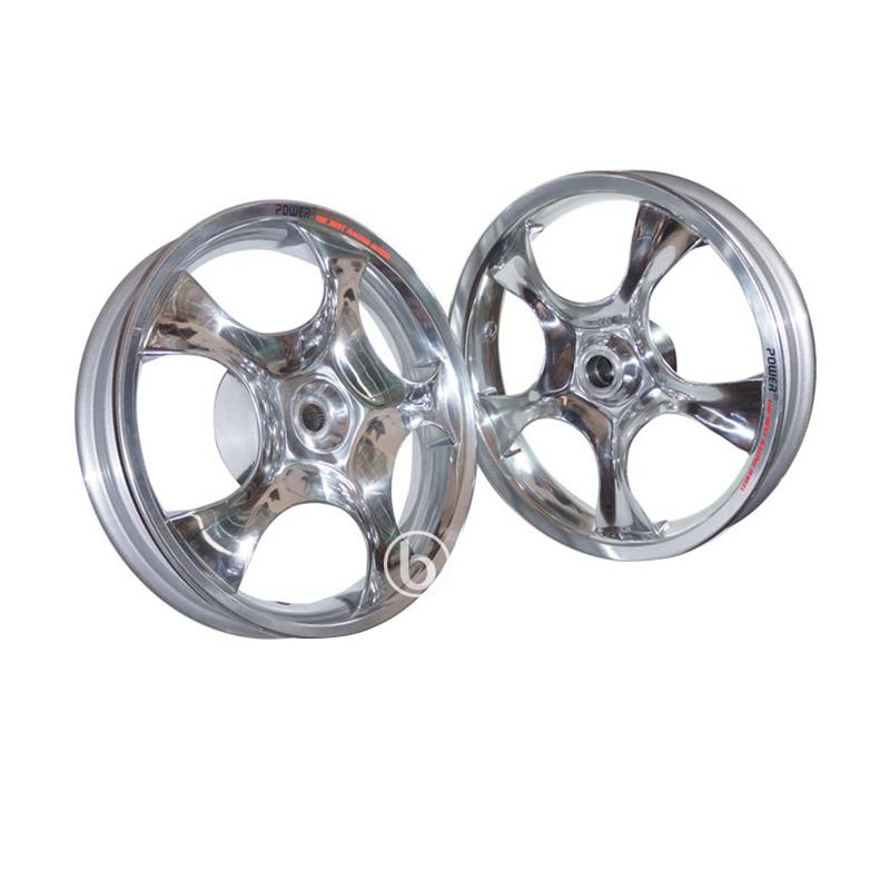 harga Power Rose Palang 5 Tapak Lebar Set Velg Racing for Vario 110 Karbu - Chrome [Ring 14/215-250] Blibli.com
