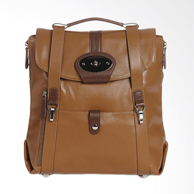 Amore Daniel Leather Beck Mutifunction Backpack - Brown [13 inch]