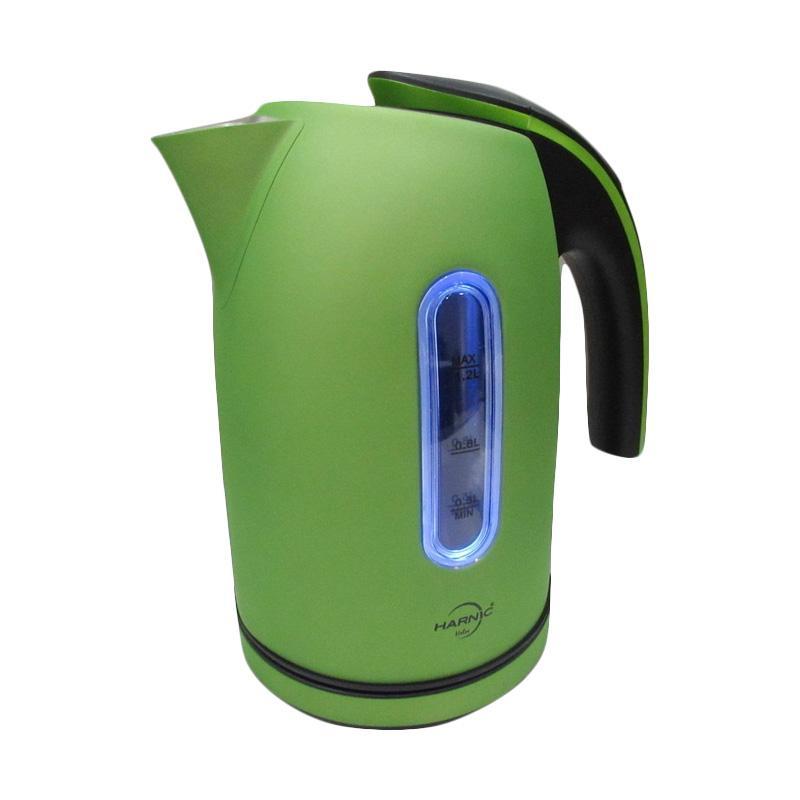 harga Heles-Harnic HL-6208 Kettle / Teko Listrik / Pemanas Air Elektrik Stainless Body Kettle Listrik [1.2 L] - Green Blibli.com