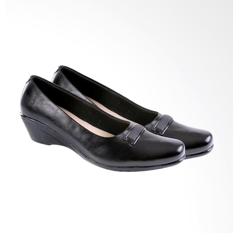 Garucci GRN 5177 Wedges Shoes Formal Sepatu Wanita - Black