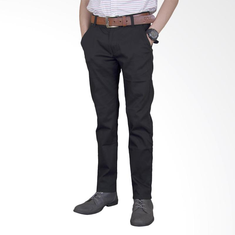 Primestore Chino Big Size Celana Panjang Pria - Black