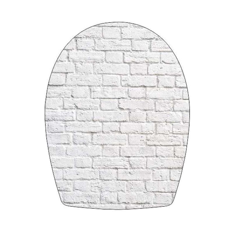 Epinidithouse Shabby Toilet Seat Cover Stiker Tutup Closet Duduk - Bata Putih