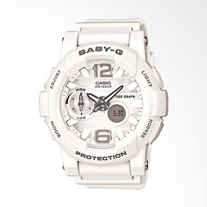 CASIO Baby-G BGA-180-7B1DR Resin Band Jam Tangan Wanita - White