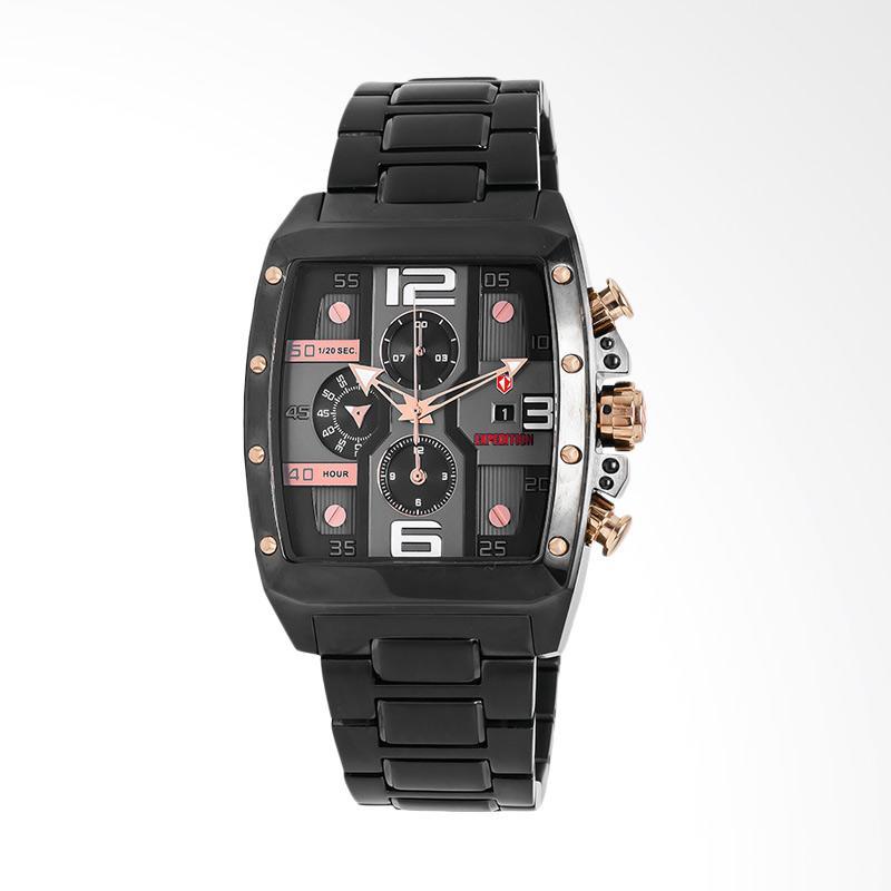 Expedition Man Black Dial Black Stainless Steel Jam Tangan Pria - Black EXF-6636-MCBBRBA