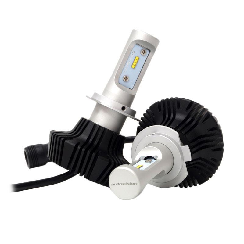 Autovision Headlight LX-8 H7 LED Bohlam Lampu Mobil - Putih [12 V/25 W/6000 K]