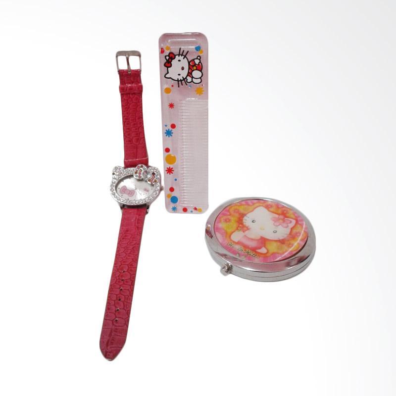 Hello Kitty HK-010 Paket Dandan Jam Tangan Wanita - Multicolor