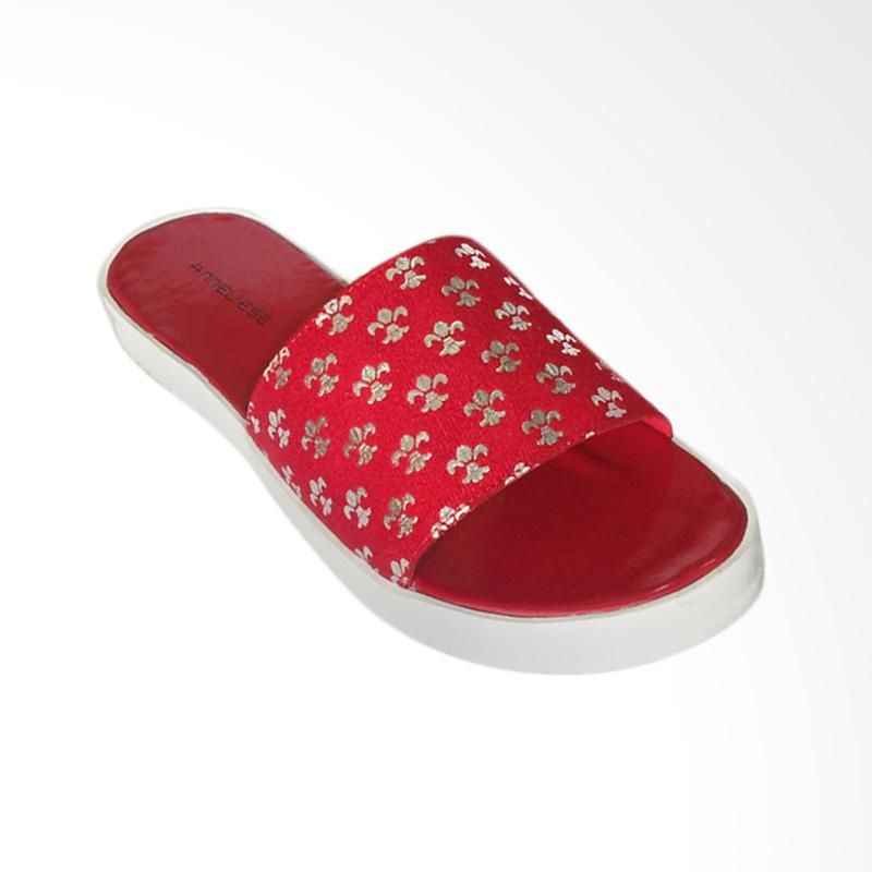 Anneliese Queen Sandal Flat Wanita - Red