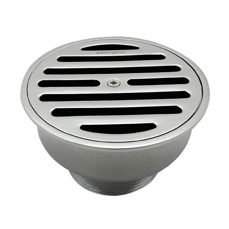 Waterplus FDR-014CR Floor Drain Round Saringan Air - Chrome [4 Inch]