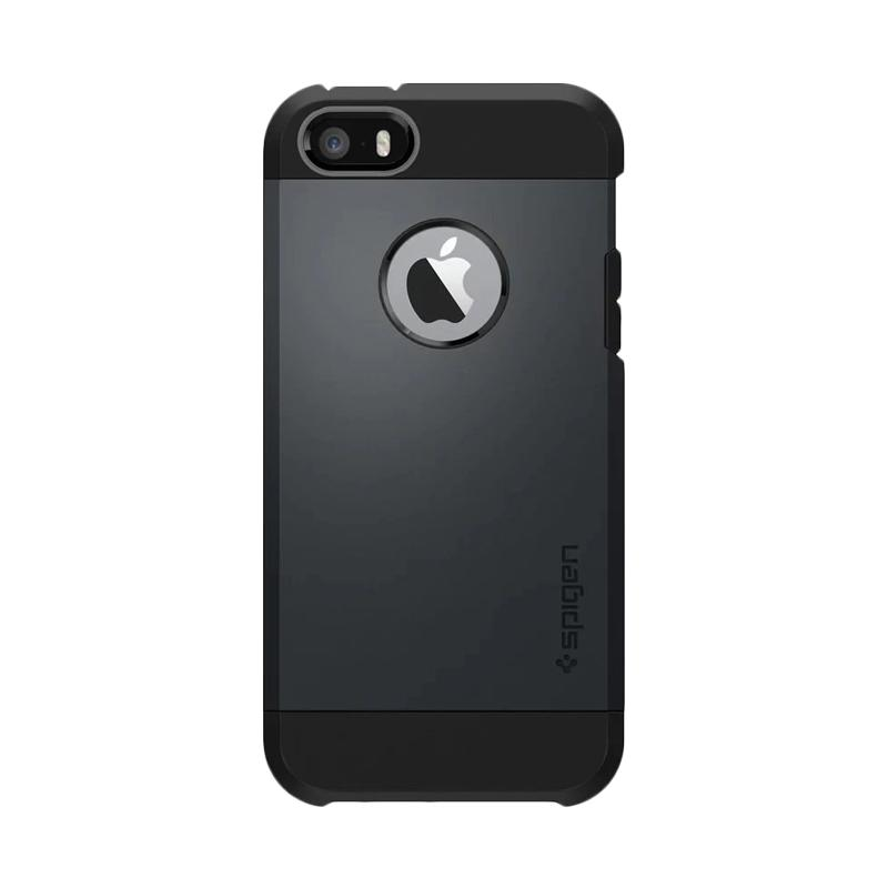 Spigen Slim Armor Backcase Casing for iPhone 5G or iPhone 5S - Black