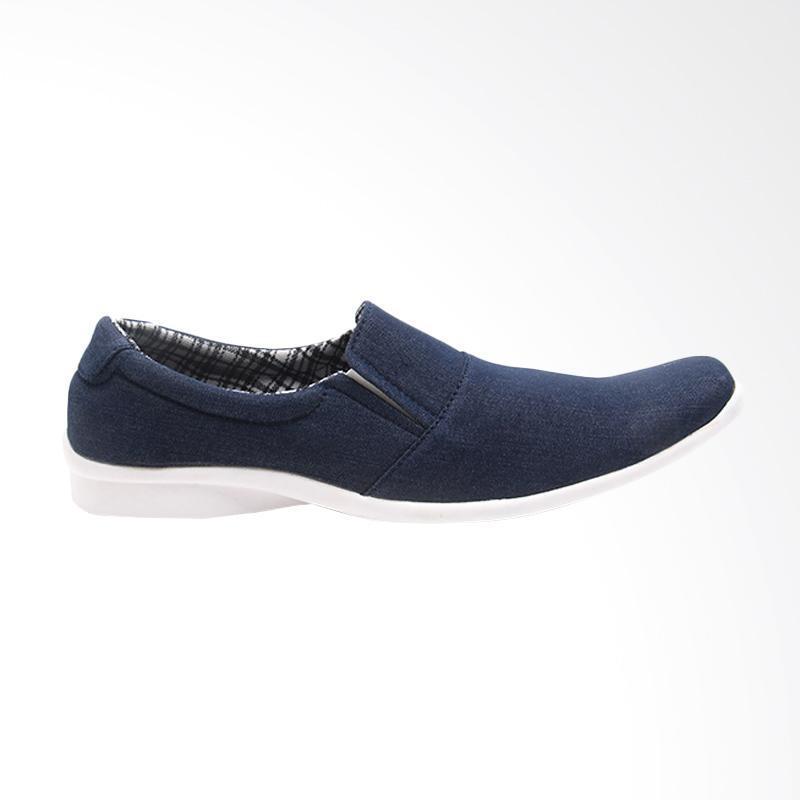 harga Dr Kevin Men Casual Shoes Sepatu Pria - Navy 13286 Blibli.com