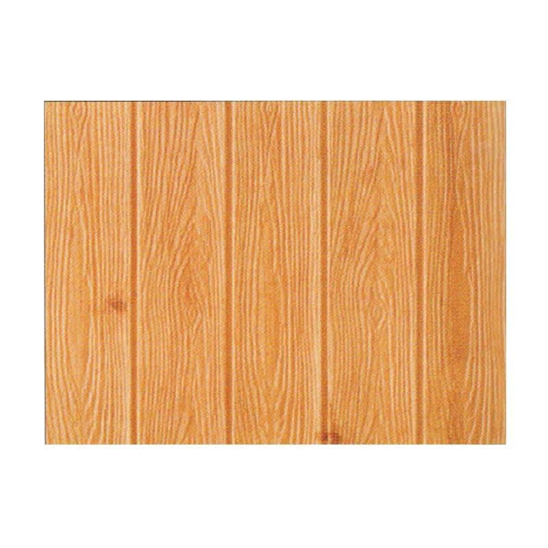 Hyundae Fixpix APB 27 Roll Fix Wood 3D Sandy Brown Foam Embossed Wallcover Dekorasi Dinding - Wooden