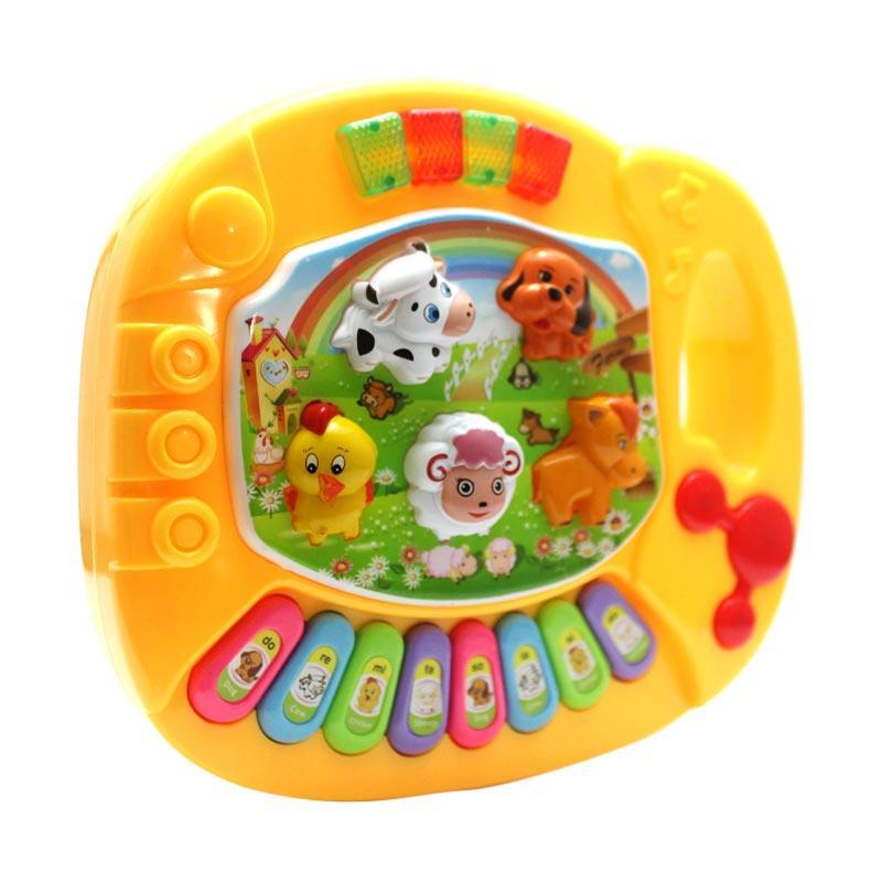JK Musik Piano dan Suara Hewan Mainan Anak - Yellow