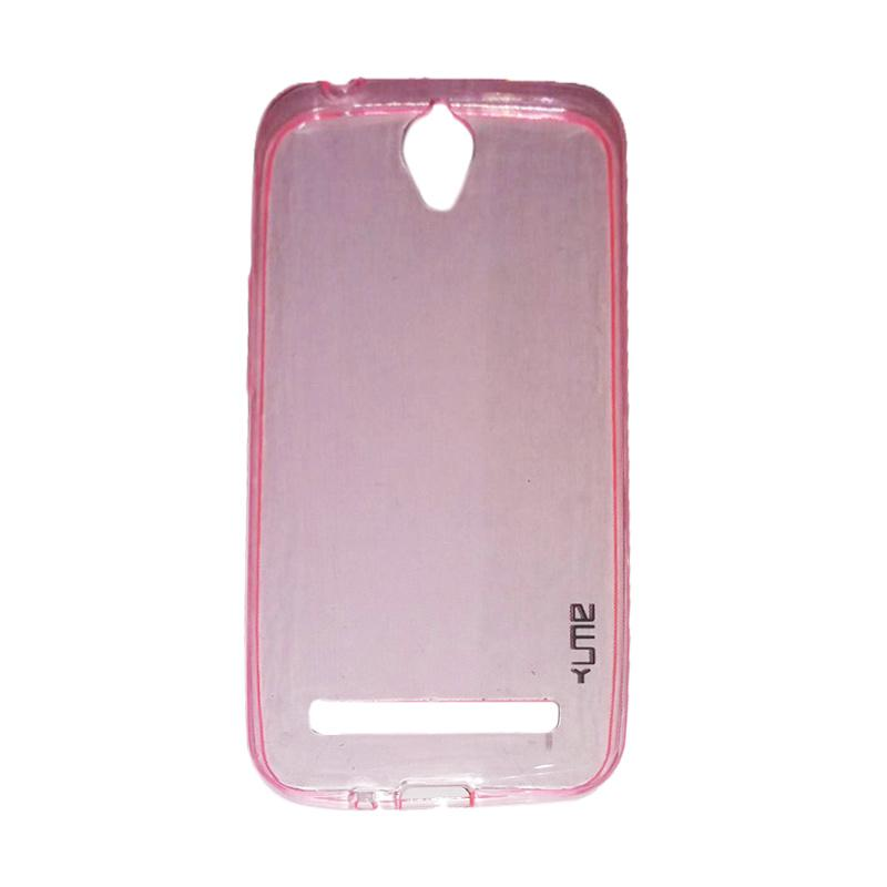Ume Ultrathin Silicone Jellycase Softcase Casing for Asus Zenfone Go ZC500TG 5.0 Inch - Pink