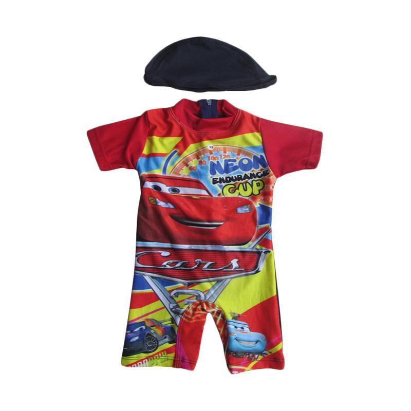 Rainy Collections Karakter Cars Baju Renang Bayi - Merah