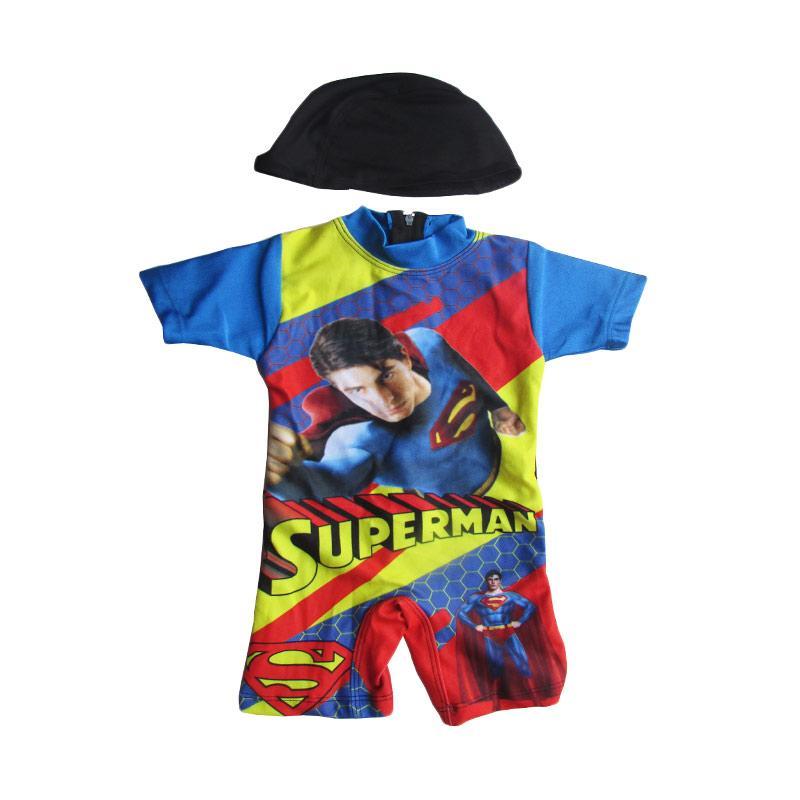 Rainy Collections Karakter Superman Baju Renang Bayi - Biru