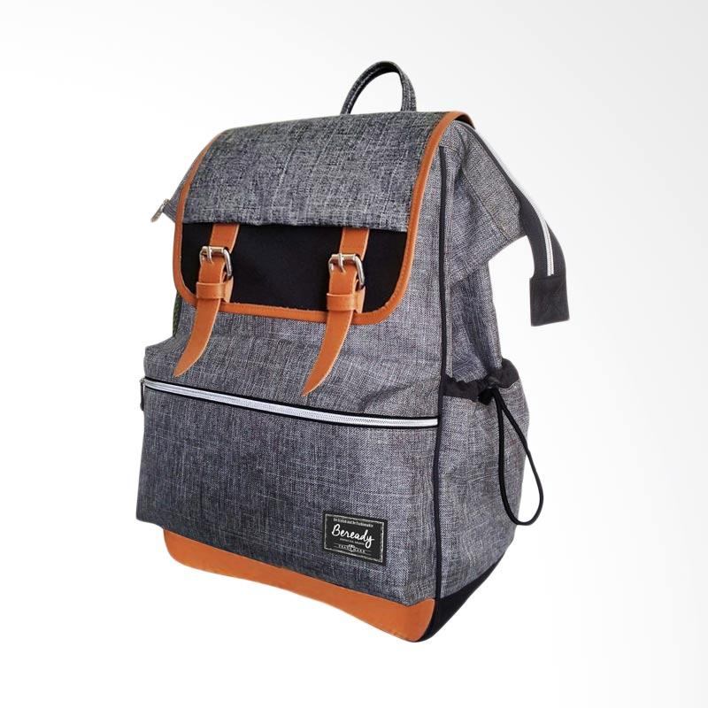 BEREADY Backpack Tas Pria - Grey [BP 5016]