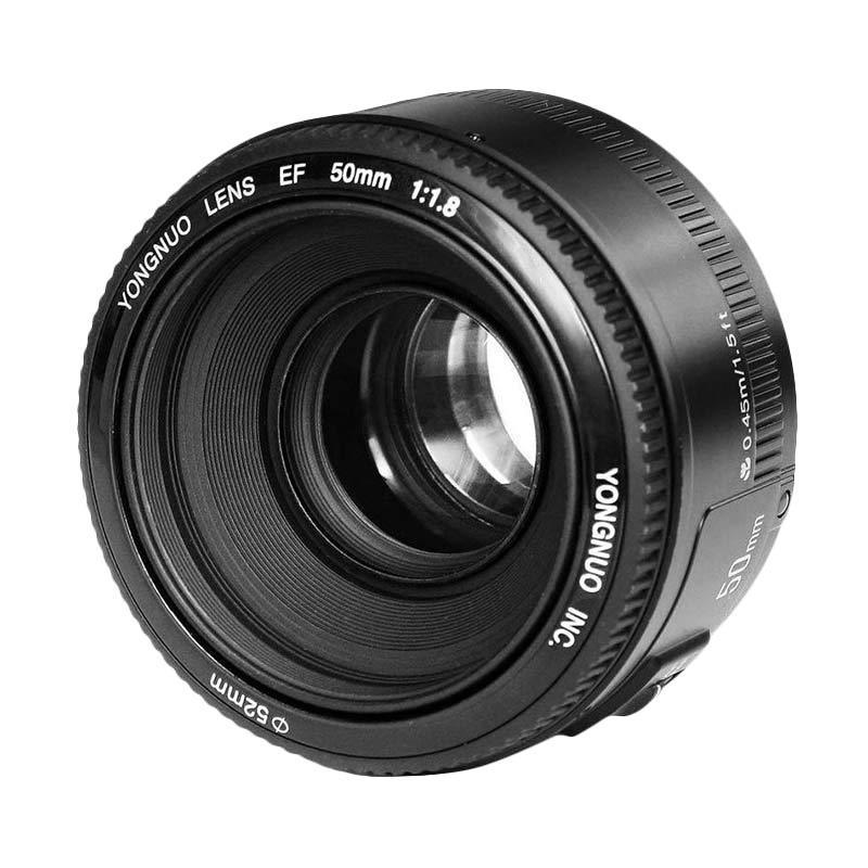 harga Yongnuo 50mm f1.8 Bokeh Lensa Kamera for Canon - Hitam Blibli.com