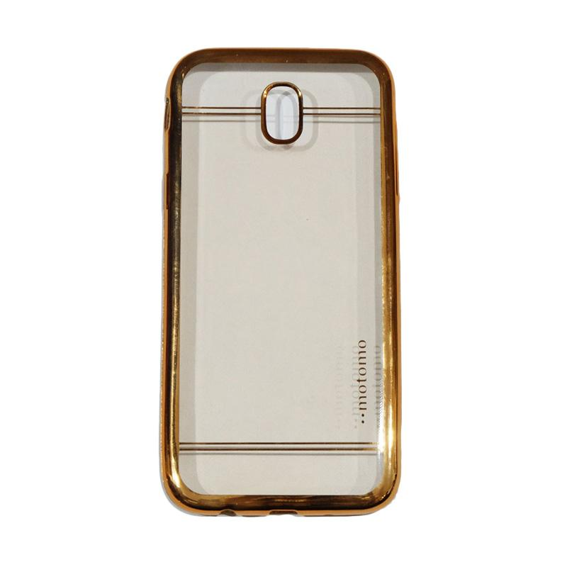 Motomo Luxury Shining Chrome Ultrathin Silicone Softcase Casing for Samsung Galaxy J7 Pro 2017 J730 - Gold