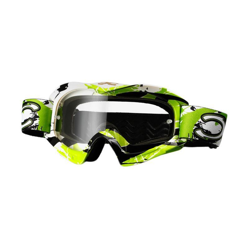 Xforce® Raider-OTG Moto Cross Goggle - Green White