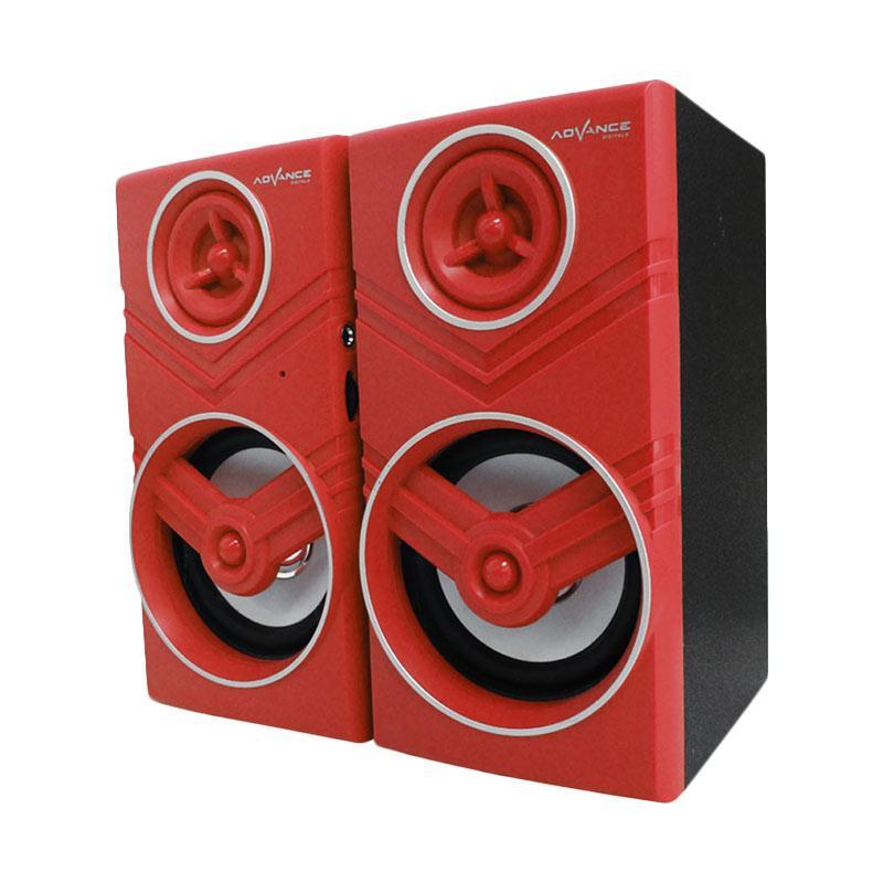 Advance Duo-080 Speaker Komputer USB With Volume Control - Merah