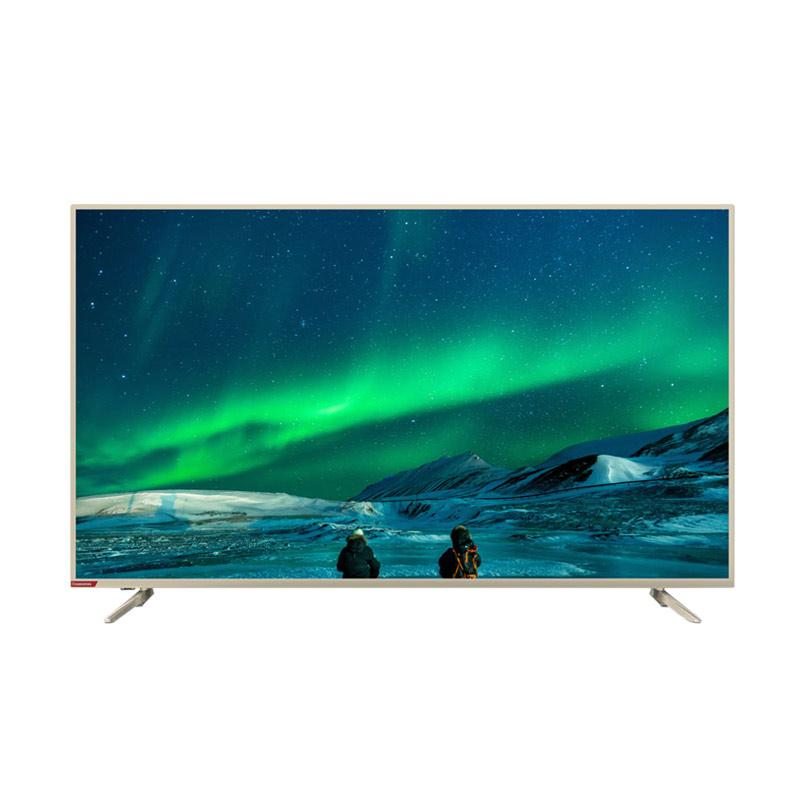 Changhong 55E6000i Android LED TV Smart - Silver [55 Inch/ UHD 4K]