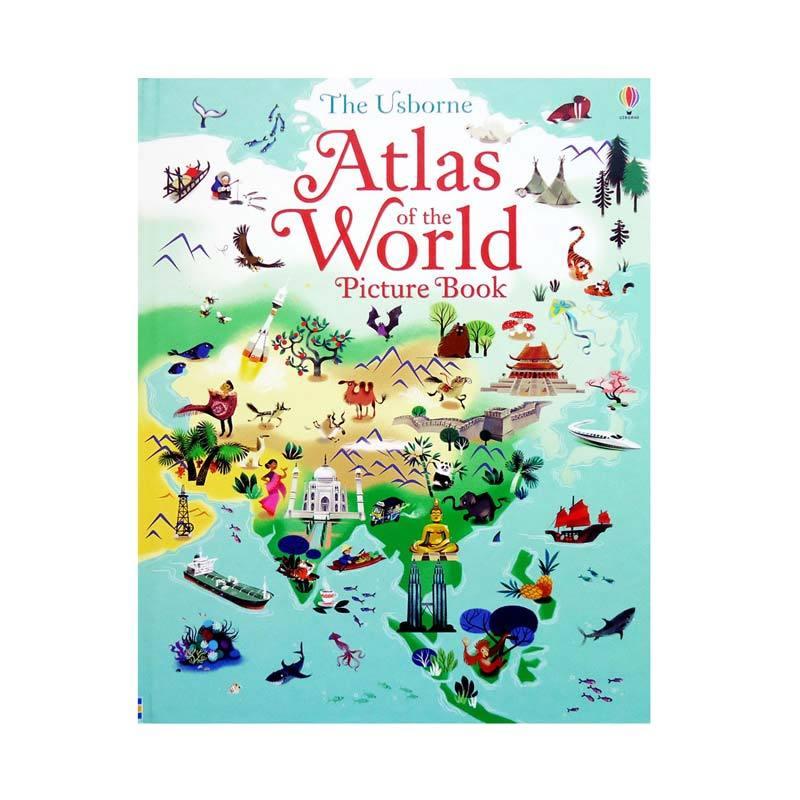 Genius The Usborne Atlas of the World Picture Book Buku Edukasi Anak