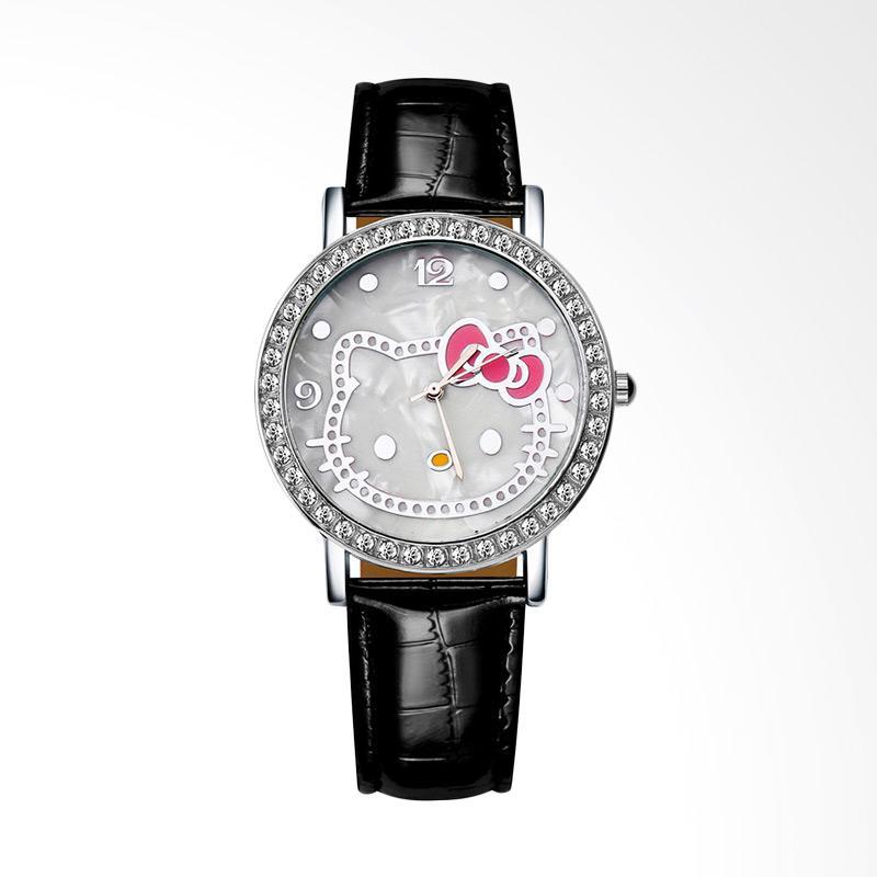 harga Hello Kitty WAT04174A Cartoon Luxury Diamond Leather Jam Tangan Wanita - Black Blibli.com