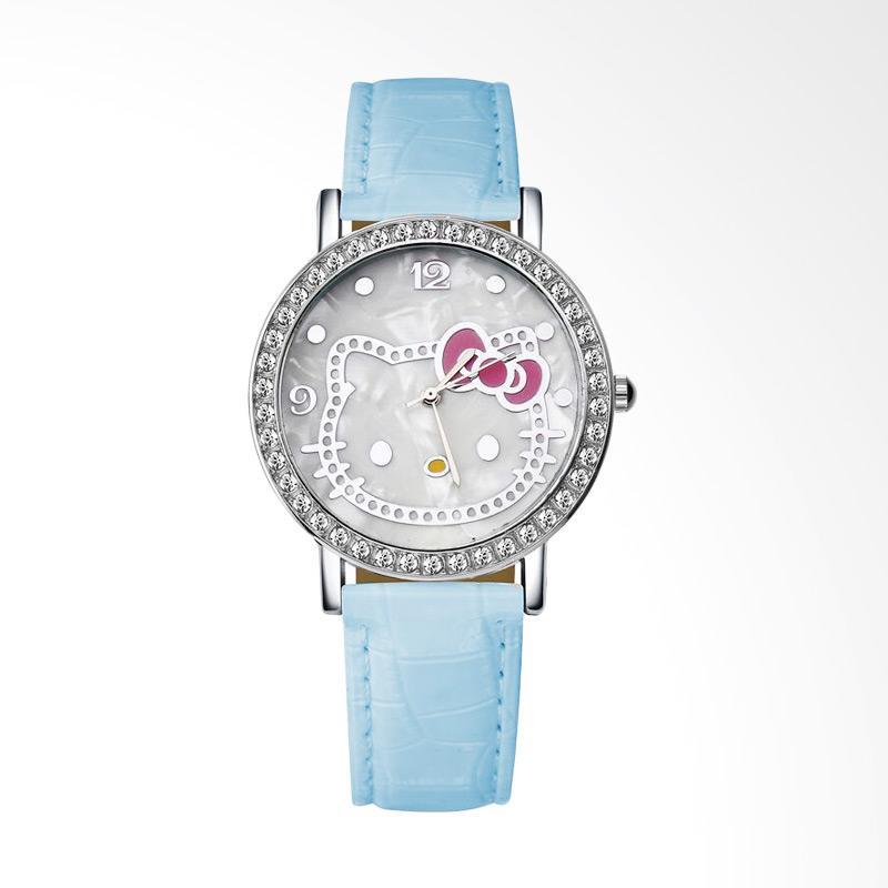 harga Hello Kitty WAT04174B Cartoon Luxury Diamond Leather Jam Tangan Wanita - Blue Blibli.com