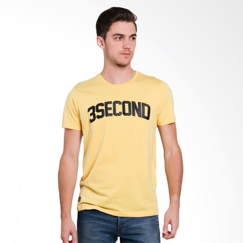 3SECOND 6412 Men Tshirt - Yellow