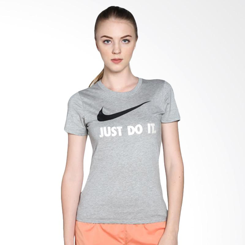 NIKE AS Tee Just Do It Swoosh Kaos Olahraga Wanita - Grey [685519068]