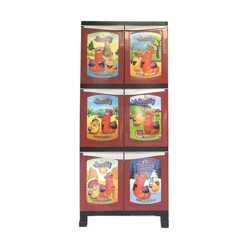 Best Furniture Davinci 1134 Glossy Lemari Plastik 3 Susun [65 x 45 x 160 cm]
