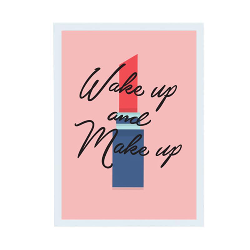 Cadrehome Wake Up And Make Up A4 Dekorasi Dinding