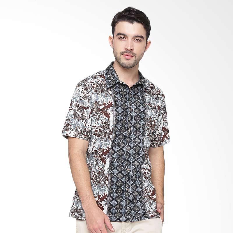A&D Fashion Short Sleeve Mens Shirt - Brrown [MS 715B]