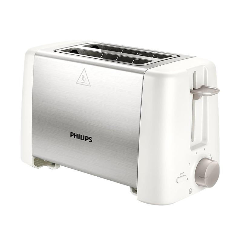 PHILIPS HD4825 Stainless Toaster - Putih