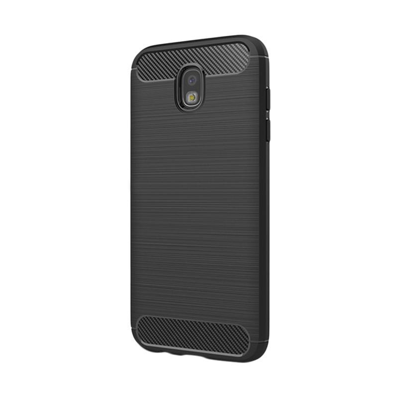 Viseaon Carbon Brushed TPU Rubber Softcase Casing for Samsung J5 Pro - Black
