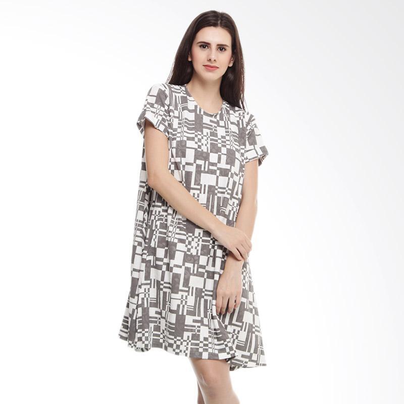 harga Shadrins Nursingstyle Bella Maternity and Nursing Dress Menyusui - Gray White Blibli.com
