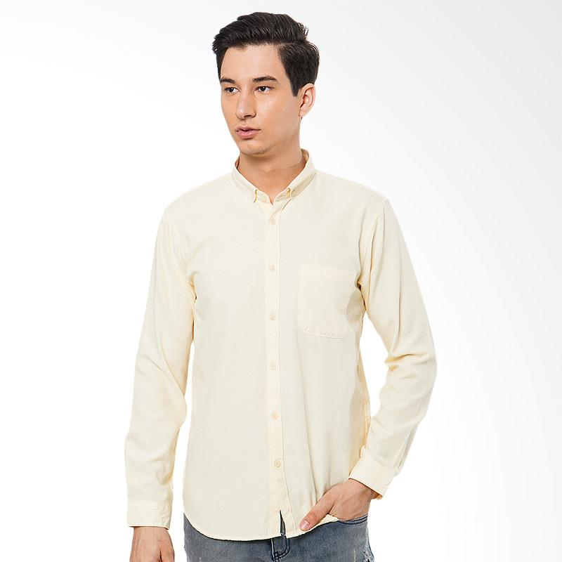 Tendencies Shirt Long Gul Linen Kemeja Pria - Kuning