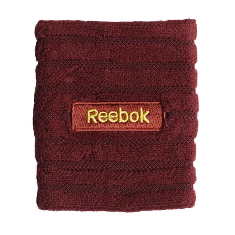 Reebok Aksesoris Olahraga Basket Wristbans Embossed Reebok Riot Merlot/Marigold [W6016]
