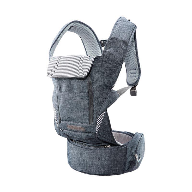 Pognae No 5 Plus Hipseat and Baby Carrier | Denim Grey | Gendongan Bayi
