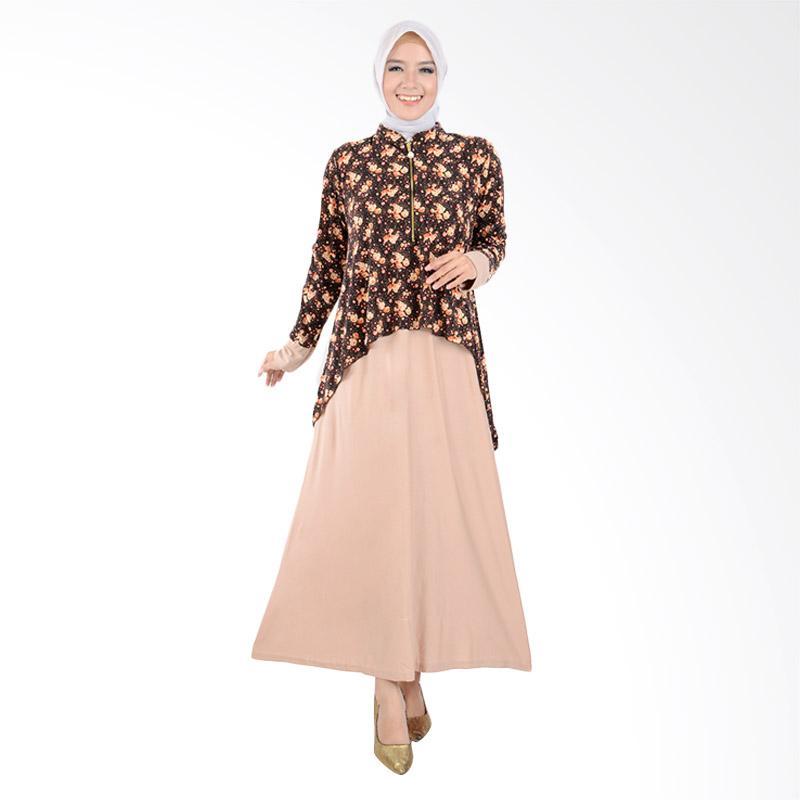 harga Jfashion Maxi Krah Shanghai Variasi Seleting Gamis Long Dress - Zaskia Krem Blibli.com
