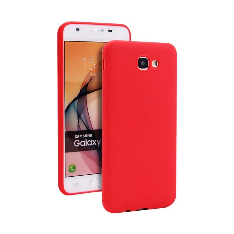Lize Design Slim Anti Glare Silikon Casing for Samsung Galaxy A520 A5 2017 - Red