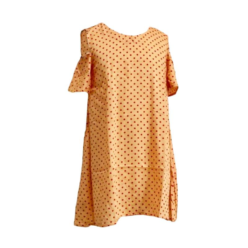 Kirana Kids Wear Selena Polka Dress - Orange