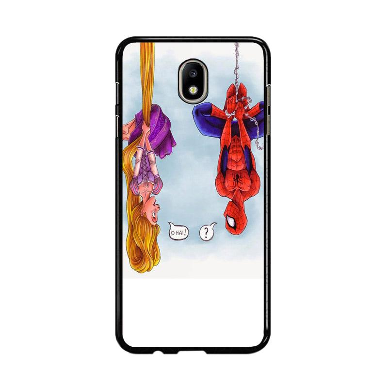 Flazzstore Disney Tangled And Spiderman F0399 Custom Casing for Samsung Galaxy J7 Pro 2017