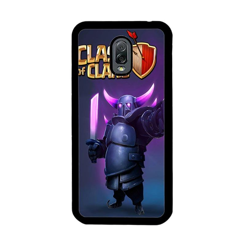 Flazzstore Clash Of Clans Pekka Z0236 Custom Casing for Samsung Galaxy J7 Plus - Purple