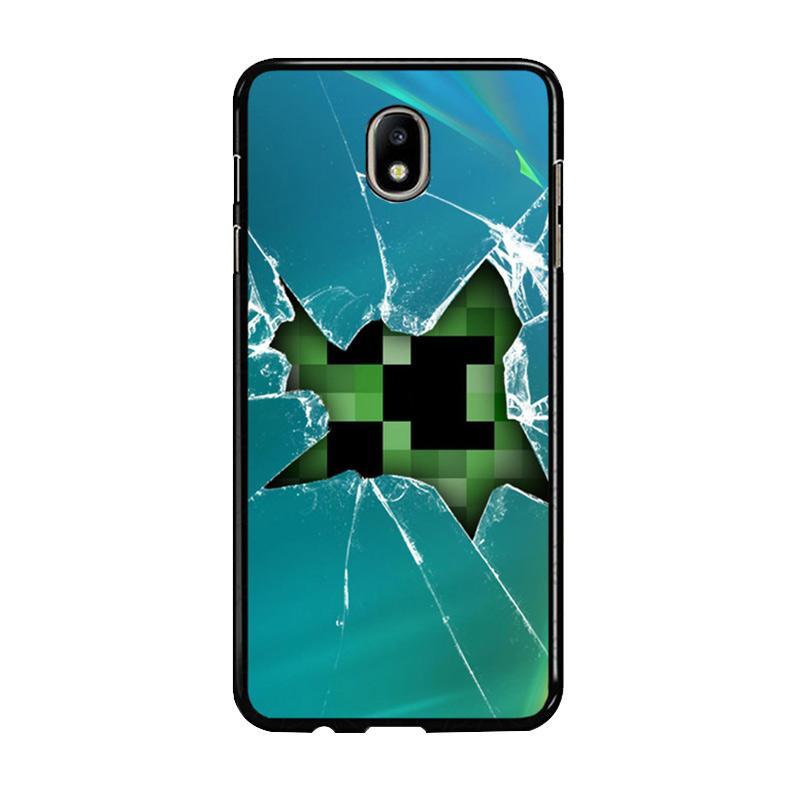 Flazzstore Minecraft Creeper Broken Glasses F0519 Custom Casing for Samsung Galaxy J7 Pro 2017